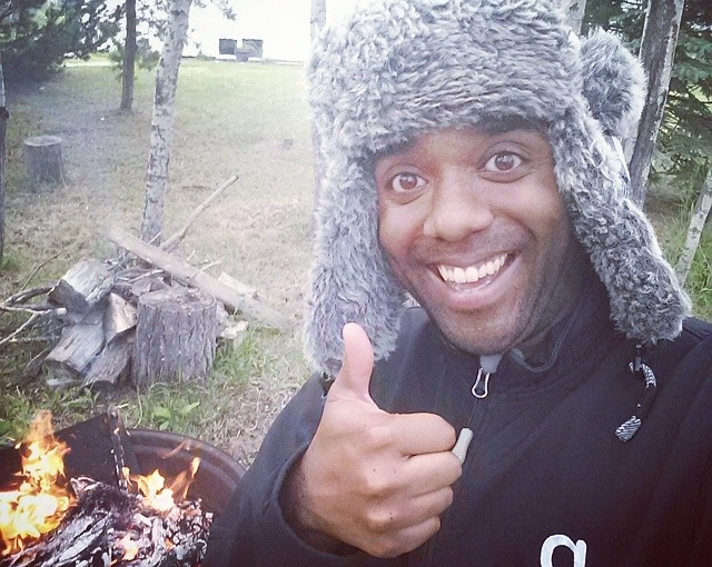 Backyard fire selfie!  Backfelfie!  #selfiegram #allthefilters