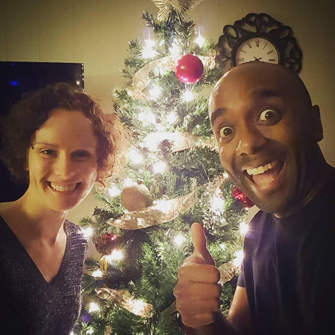 Christmas tree selfie!  Chrtrelfie! #selfiegram #ihelped #gottaputitawayinamonth