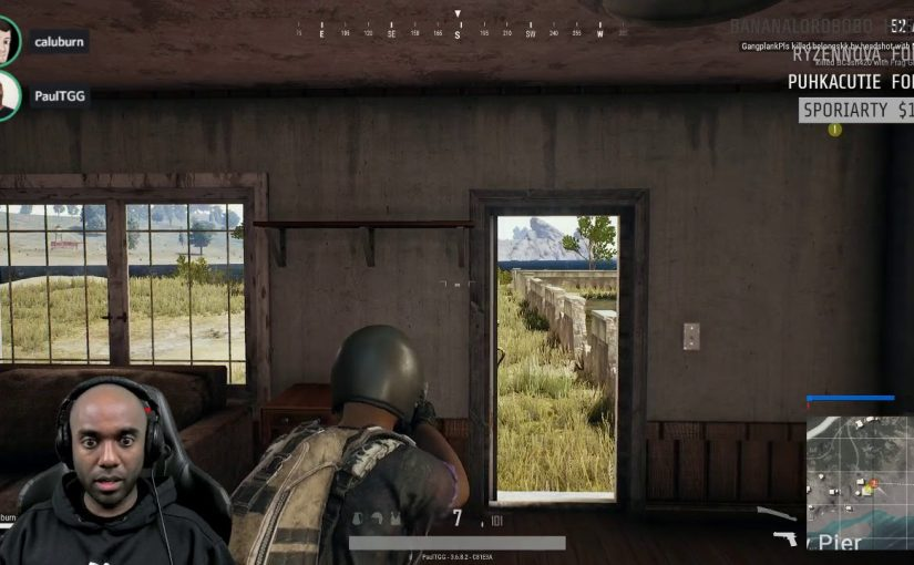 Twitch Highlight – PUBG – Saved by the doorpost