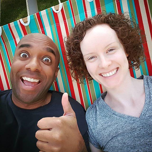 First hammock of 2018 selfie!  Firhamo20elfie!  #selfiegram #onlyfelloutonce #siansidea (@sianksteindl)