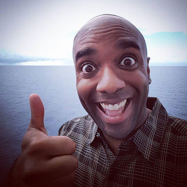 Caribbean Sea selfie!  Caribselfie!  #selfiegram #actuallyverytired #whatyearisit #ripvanwinkle