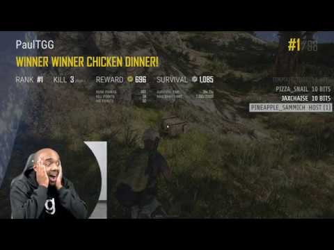 Twitch Highlight – PUBG – First solo PUBG win reaction!