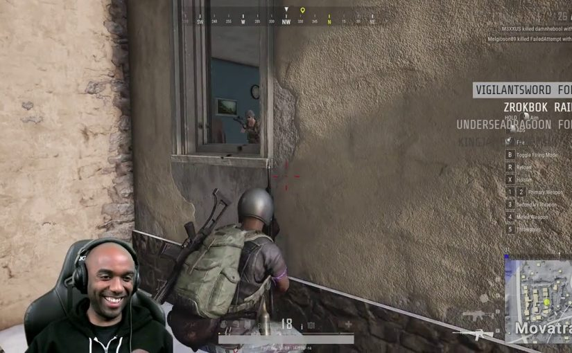 Twitch Highlight – PUBG – I shot the ceiling.